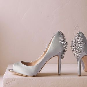 Badgley Mischka Kiara Jewel Platform Pumps